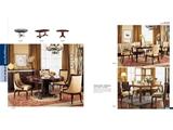 Exquisite living wood veneer dining series